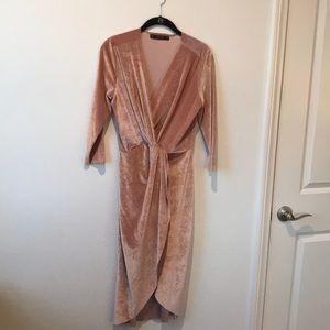 Zara Velvet Midi Dress